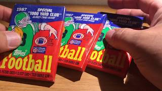 ASMR Sports Cards Whisper and Gum Chewing: 1987 Topps Football