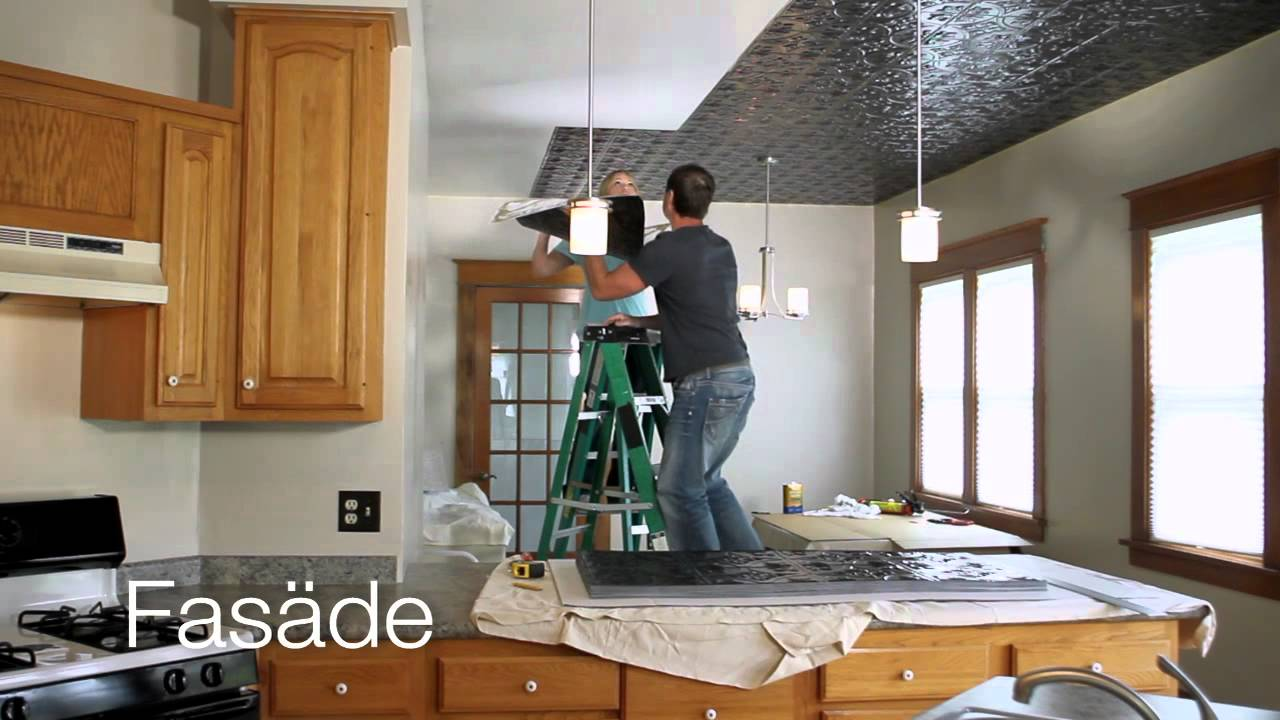 Fasade ceilings an affordable diy project youtube dailygadgetfo Image collections