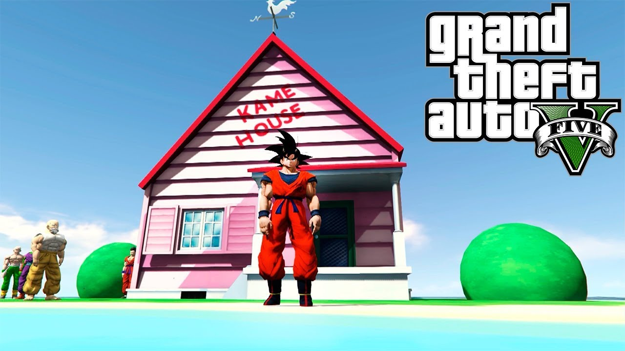GOKU ENTRENA EN LA KAME HOUSE | GTA 5 MOD DRAGON BALL