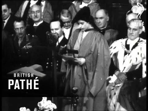 Princess Elizabeth Degree At Edinburgh University (1949)