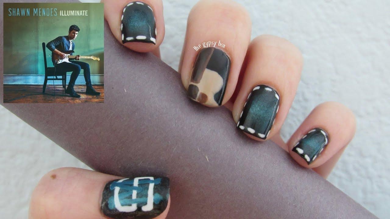Shawn Mendes Nail Art Design | TheGypsyBox - YouTube