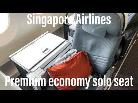 Singapore Airlines world's longest flight | Premium Economy Solo Seat | Newark - Singapore | SQ21