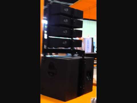 "Behringer Line Array (4"") at NAMM 2012"