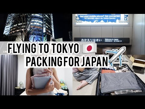 Flying back to Tokyo | Packing for Spring in Japan