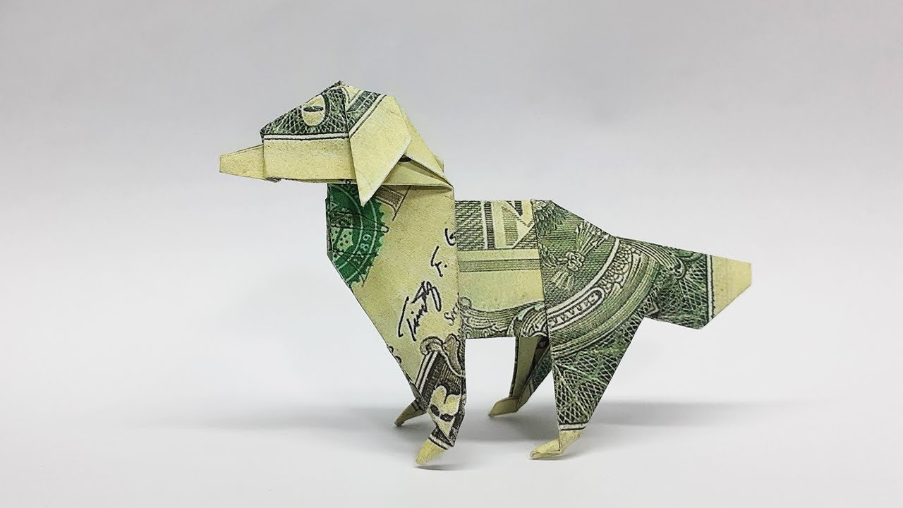 Money Origami Dinosaur T-Rex Tutorial - YouTube | 720x1280