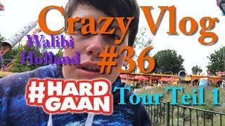 It's Hardgaan - Walibi Holland 2018 - Hardgaan Tour Teil 1   Crazy VLOG #36