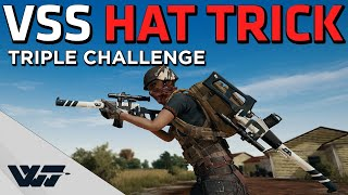 VSS HAT TRICK - Can't believe I did this! - PUBG