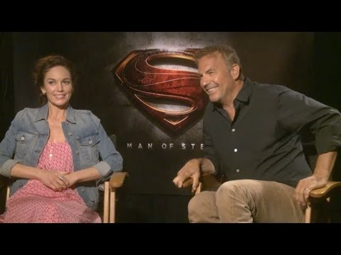 Diane Lane & Kevin Costner - Man of Steel Interview HD