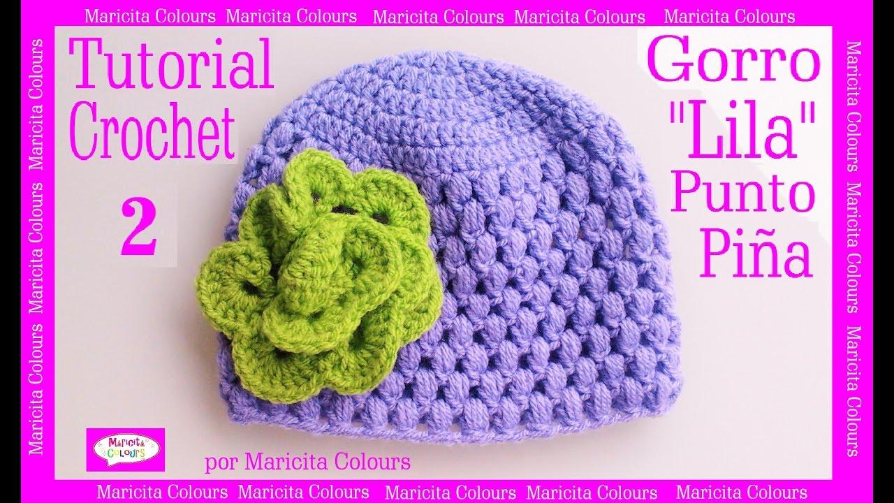gorro beb punto puff crochet lila 2 por maricita colours subtitles in english deutsch. Black Bedroom Furniture Sets. Home Design Ideas