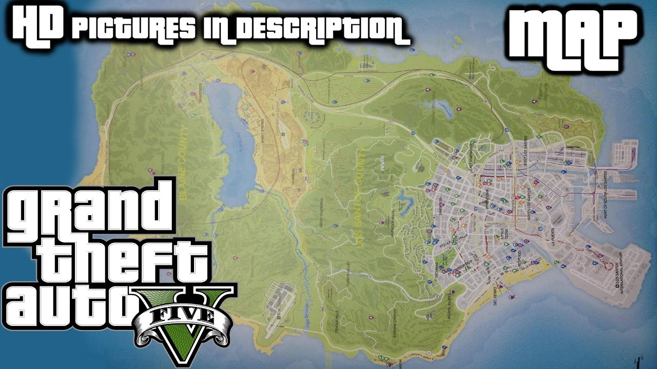 GTA V OFFICIAL MAP LEAKED 1080p HD High Resolution Pictures in