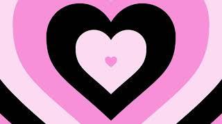 Y2K PARTY Черно - розовое сердечки фон для видео 1 ЧАС ВИДЕО
