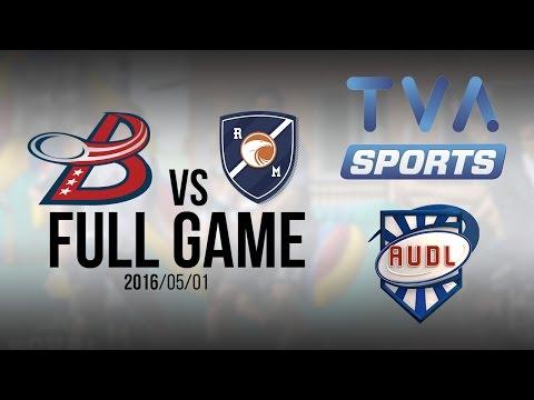 Washington DC Breeze VS Royal | GAME | AUDL | TVA SPORTS | Ultimate frisbee | Montreal Royal
