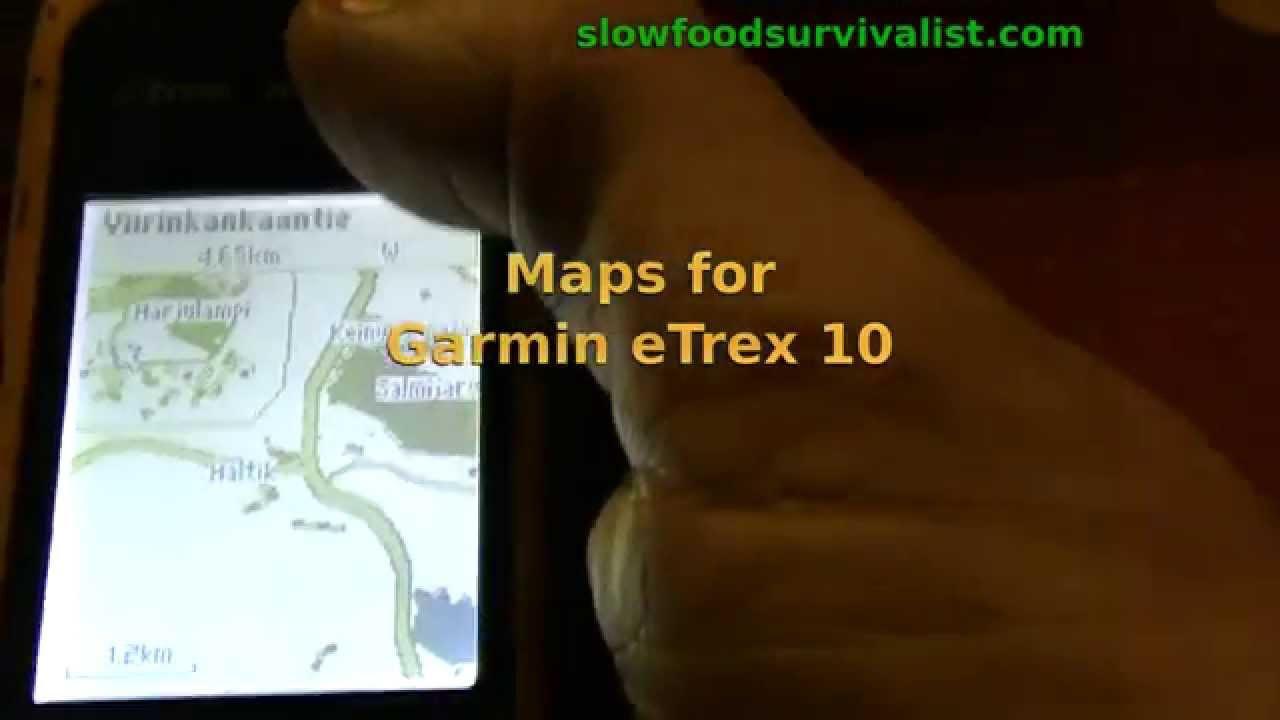 mappe etrex 10