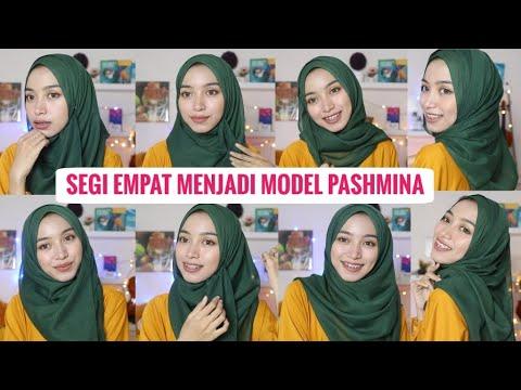Tutorial Hijab Segi Empat Menjadi Model Pashmina Trend Tahun 2020 Youtube