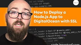 tutorial how to deploy a node js app to digitalocean with a free ssl certificate