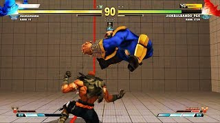 Street Fighters V AE Ranked Match.