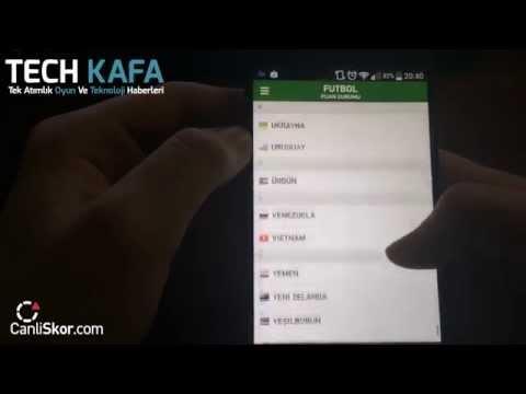 Canlı Skor Android Uygulamasını İnceledik