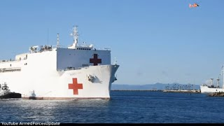 US Military sends 1000 bed hospital ship to LA help out with coronavirus