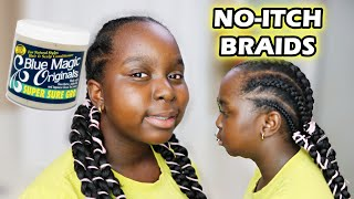 Back To School Hairstyles with Hair Grease on Natural Hair NO ITCH EXTENSIONS | DiscoveringNatural