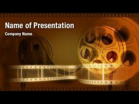 Movie strip powerpoint video template backgrounds for Video background powerpoint templates free download