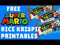 SUPER MARIO RICE KRISPIE TREATS | LEARN HOW TO MAKE WITH FREE PRINTABLE