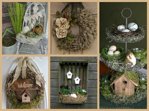 Rustic Spring Decor Ideas - Spring Decorating Ideas - Easter Rustic Decorations Inspo