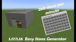 Minecraft Easy Stone Generator! 260 St๐ne Per Minute! 1.17/1.16.