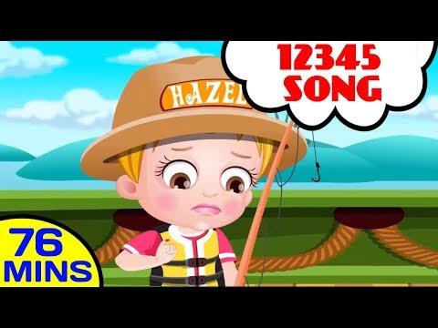 12345 Once I Caught a Fish A  Ba Hazel Nursery Rhymes  Popular Nursery Rhymes Collection