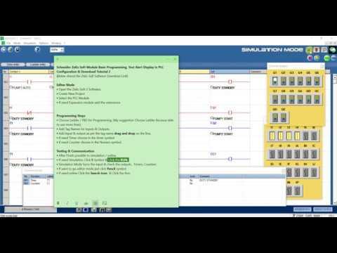 Schneider Zelio Soft Basic Programming, Text Alert Display Configuration & Download Tutorial 2 thumbnail