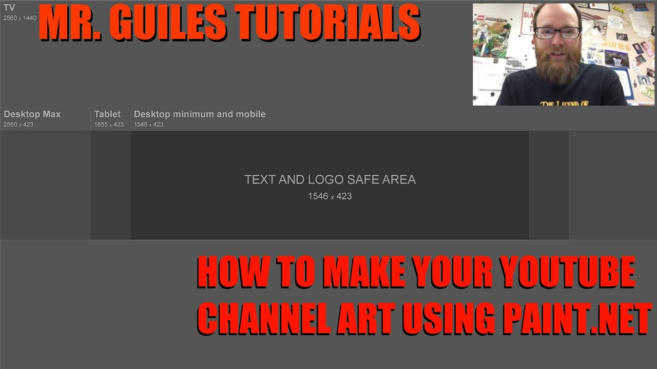 How To Create Youtube Channel Art in Paint Net - YouTube