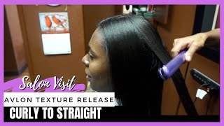 Salon Visit   Curly to Straight Hair using Avlon Texture Release System