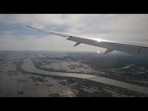 Japan Airlines B787-8 Flight JL422 Approach, Landing And Taxiing In Tokyo Narita