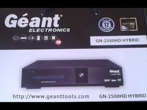 mise a jour geant gn 2500 hd new