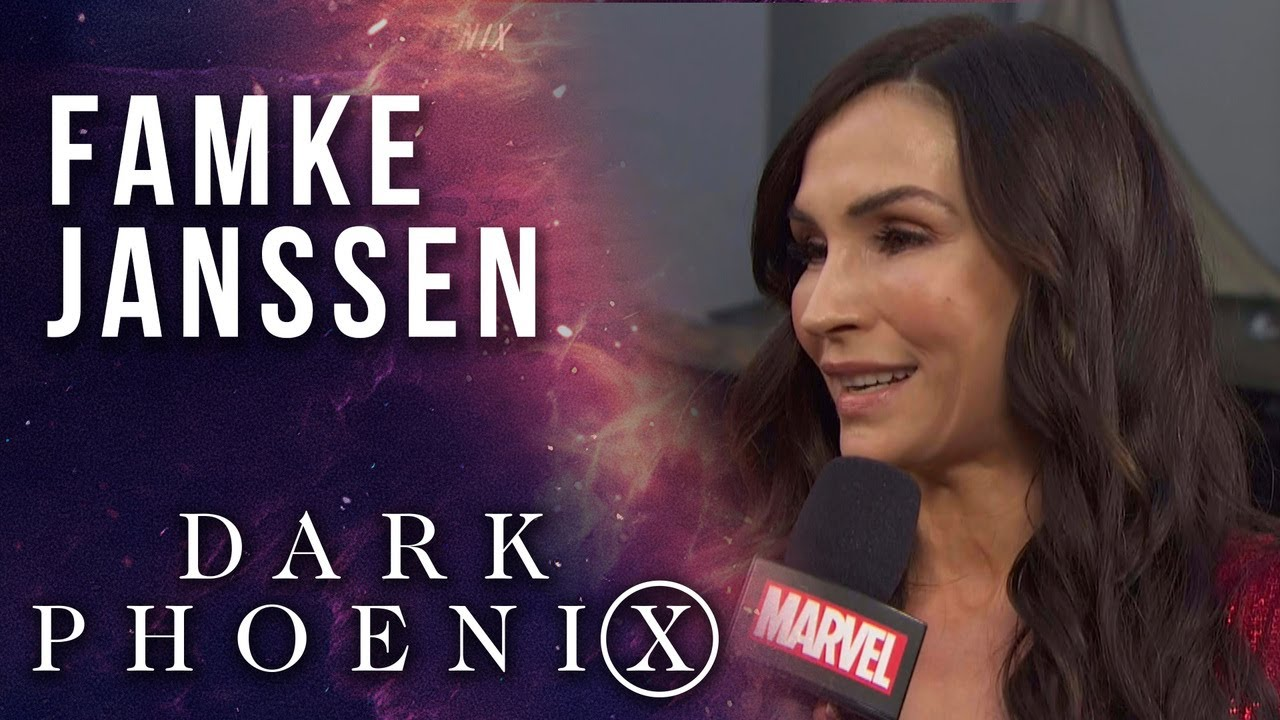 Famke Janssen chooses between Wolverine and Cyclops at the X-Men  Dark Phoenix Premiere