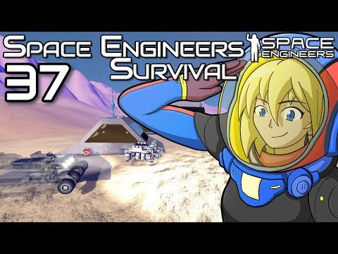 The tank thingy and my dropship is so cool XD   Space Engineers Survival Gameplay   37
