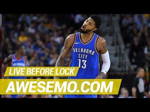 Yahoo, FanDuel & DraftKings NBA DFS Live Before Lock - Sat 1/12 - Awesemo.com
