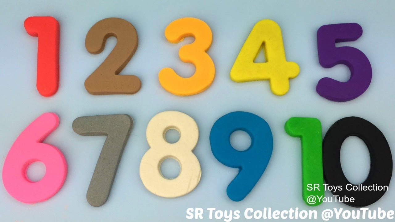 Learn to Count Numbers 1 to 10 and Colours with Play Doh Modelling ...