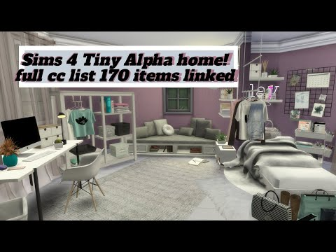 Sims 4 Alpha tiny home🏡||170 items linked||Speed build||