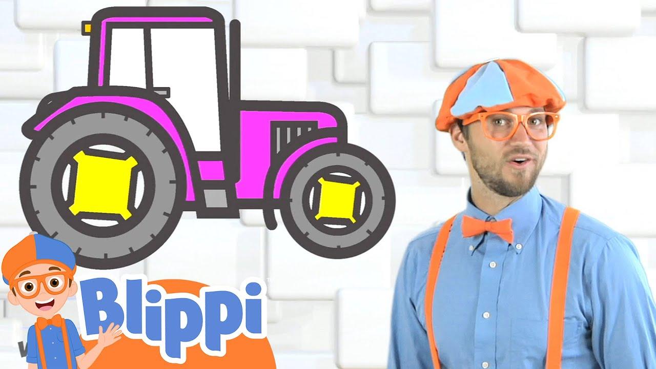 Tractor Song|Blippi|Children's Music|Trucks For Kids|Gecko's Songs