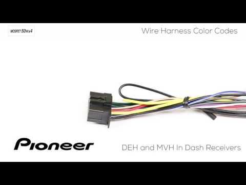 how to - understanding pioneer wire harness color codes for deh and mvh in  dash receivers - youtube