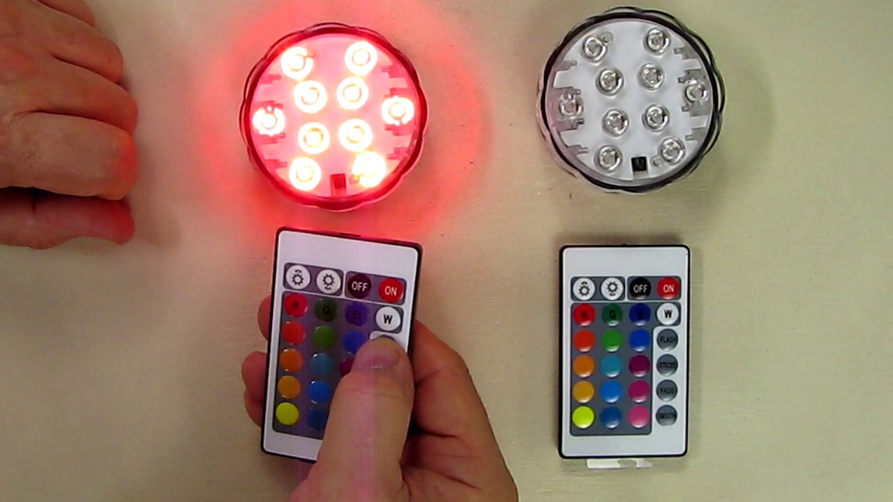 Puroma 2 Pack Rgb Submersible Led Lights Remote Controlled 16 Color Changing