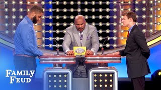 EXCLUSIVE OUTTAKE! Best answer Steve's EVER heard!   Family Feud