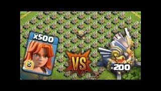 200 Eagle Artillery vs 350 Valkyries | WHO WILL WIN?| CLASH OF CLANS