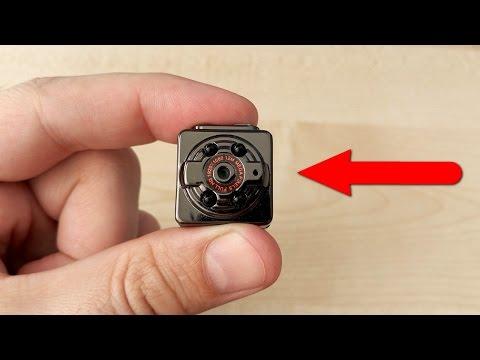 Шпионская мини камера SQ8 Снимал ночью и чуть не умер от страха! Детям не смотреть!