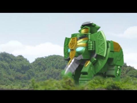 Power Ranger Ninja Steel |  Nuevo Zord Rumble Tusk y Batalla Megazord - Capitulo 5