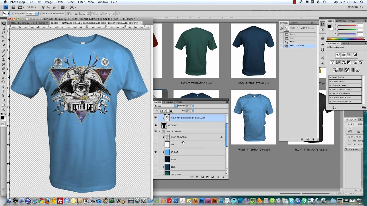 Corel draw vs photoshop for t shirt design - How To Use T Shirt Mockup Templates From Thevectorlab