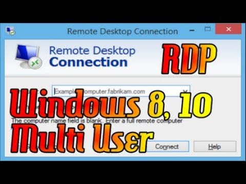Setting Remote Desktop RDP Multi User Di Windows 8,10