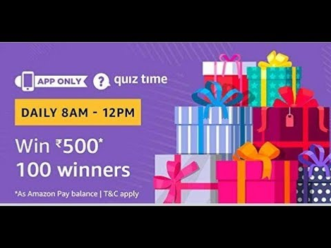 Amazon Quiz answers today| Win Rs. 500| 10 Nov 2018