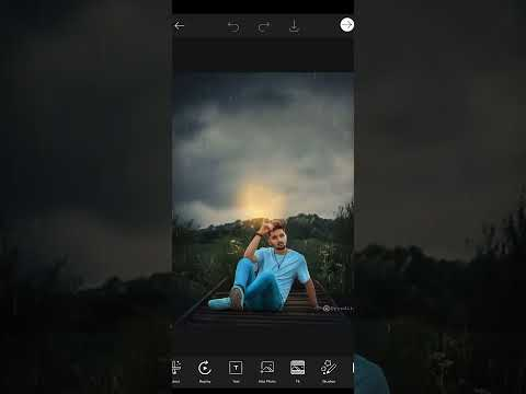 New Photo Editing Picsart #short  Time. Sky Lighting Effect Rain  Editing  Short Time Editing