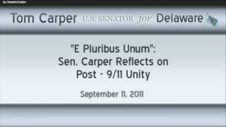 Sen. Tom Carper Reflects on 9/11